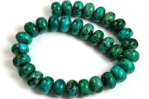 African Turquoise, 18mm, Rondelle Shape Beads