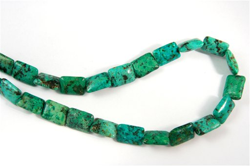 African Turquoise, 12x16mm, Puff Rectangle Shape Beads