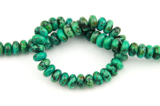 African Turquoise, 10mm, Rondelle Shape Beads