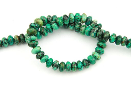 African Turquoise, 8mm, Rondelle Shape Beads