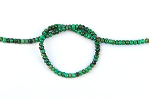 African Turquoise, 4mm, Rondelle Shape Beads