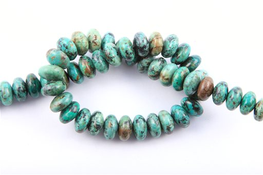 African Turquoise, 14mm, Rondelle Shape Beads
