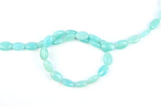Amazonite, 8x12mm, Oval Shape Beads