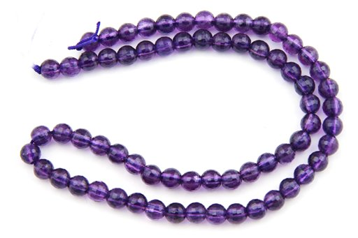 Amethyst (AA), 6mm, Faceted Round Shape Beads