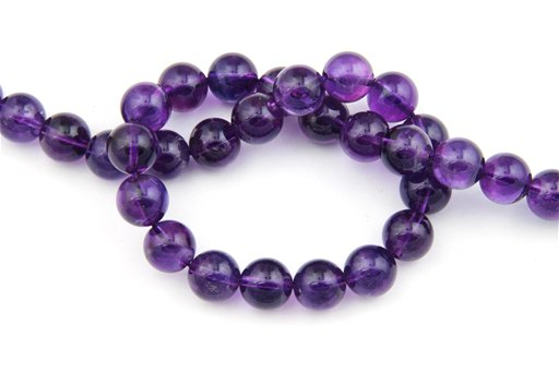 Amethyst (AA), 12mm, Round Shape Beads