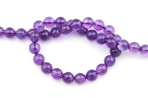 Amethyst (AA), 8mm, Round Shape Beads