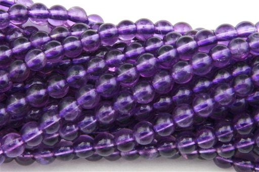 Amethyst (AAA), 4mm, Round Shape Beads