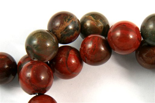 Apple Jasper, 10mm, Round Shape Beads