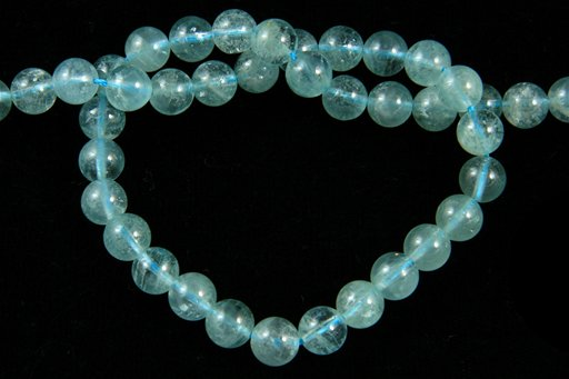 Aquamarine (AA), 8mm, Round Shape Beads