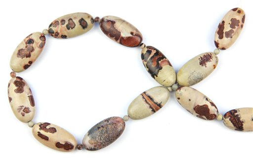 Artistic Stone, 15x30mm, Long Oval Shape Beads