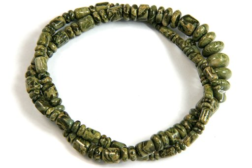 Australian Green Jasper, 3-10mm, Barrel Rondelle Assorted Shape Beads