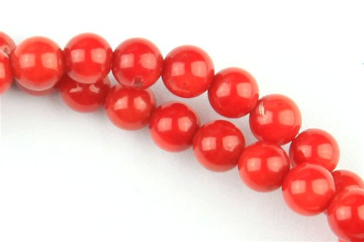 Bamboo Coral (Red), 4mm, Round Shape Beads