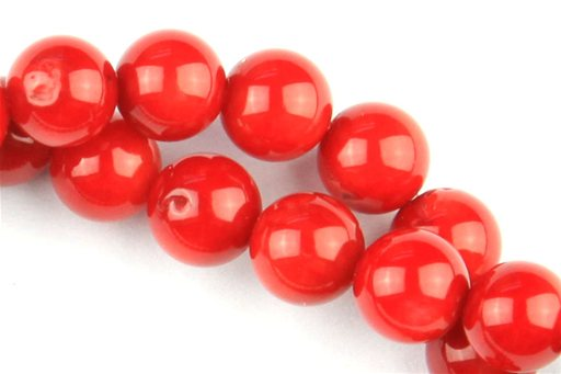 Bamboo Coral (Red), 6mm, Round Shape Beads