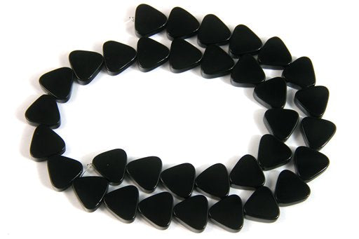Black Onyx, 12mm, Trillion Shape Beads