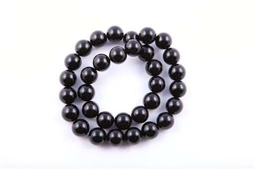 Black Onyx, 12mm, Round Shape Beads