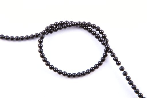 Black Onyx, 4mm, Round Shape Beads