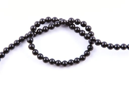 Black Onyx, 6mm, Round Shape Beads