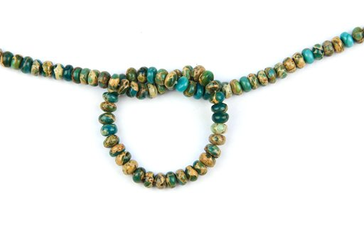 Blue Impression Jasper, 6mm, Rondelle Shape Beads