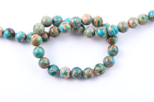 Blue Impression Jasper, 10mm, Round Shape Beads