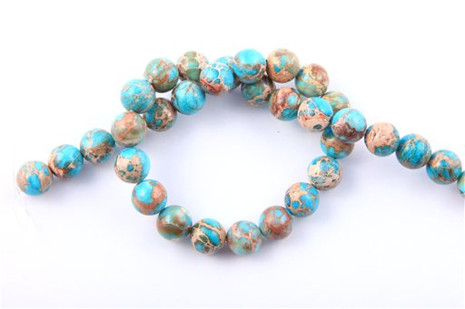Blue Impression Jasper, 12mm, Round Shape Beads