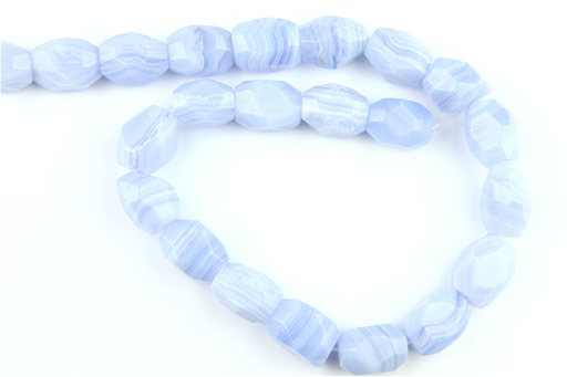 Blue Lace (A), 13x18mm, Faceted Nugget Shape Beads