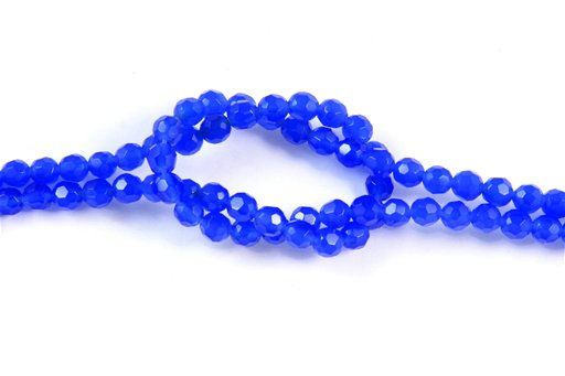 Blue Onyx, 4mm, Faceted Round Shape Beads