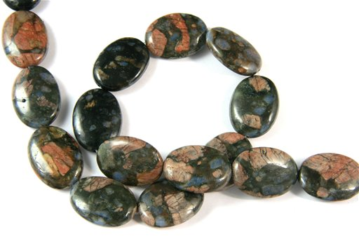 Blue Riolite, 18x25mm, Oval Shape Beads