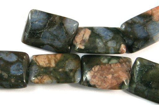 Blue Riolite, 10x14mm, Puff Rectangle Shape Beads