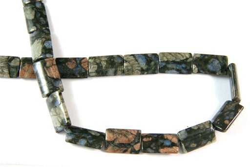 Blue Riolite, 12x20mm, Rectangle Shape Beads