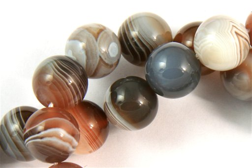 Botswana Agate, 10mm, Round Shape Beads