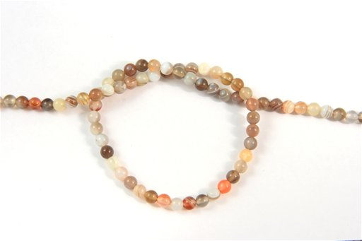 Botswana Agate, 4mm, Round Shape Beads