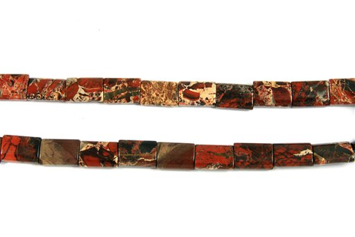Brecciated Jasper, 13x18mm, Pillow Shape Beads