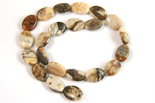 Brioche Jasper, 13x18mm, Oval Shape Beads
