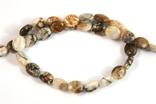 Brioche Jasper, 8x10mm, Oval Shape Beads