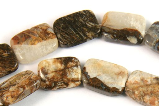 Brioche Jasper, 13x18mm, Rectangle Shape Beads