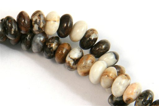 Brioche Jasper, 6mm, Rondelle Shape Beads
