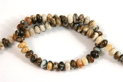Brioche Jasper, 8mm, Rondelle Shape Beads