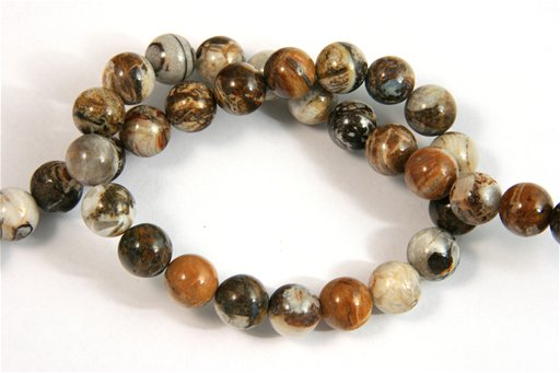 Brioche Jasper, 10mm, Round Shape Beads