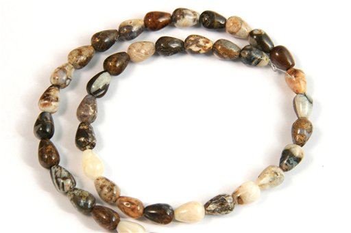 Brioche Jasper, 7x10mm, Tear Drop Shape Beads