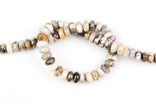 Brioche Jasper, 10mm, Rondelle Shape Beads