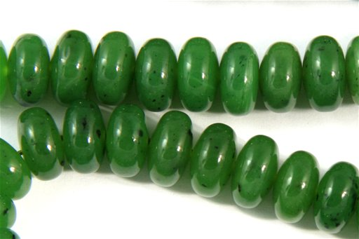 British Columbia Jade, 10mm, Rondelle Shape Beads