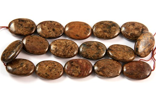 Bronzite, 18x25mm, Oval Shape Beads