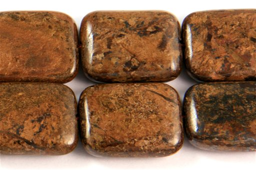 Bronzite, 15x20mm, Rectangle Shape Beads
