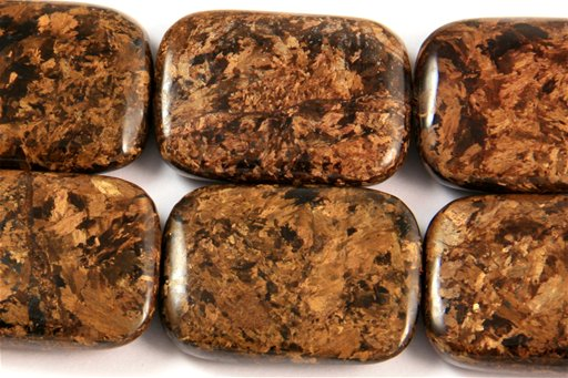 Bronzite, 22x30mm, Rectangle Shape Beads
