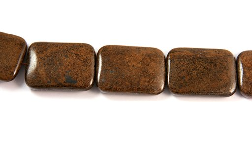 Bronzite, 30x40mm, Rectangle Shape Beads