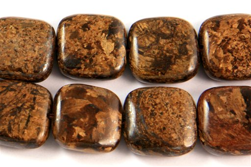 Bronzite, 14mm, Square Shape Beads