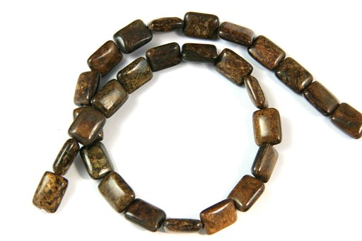 Bronzite, 10x14mm, Rectangle Shape Beads
