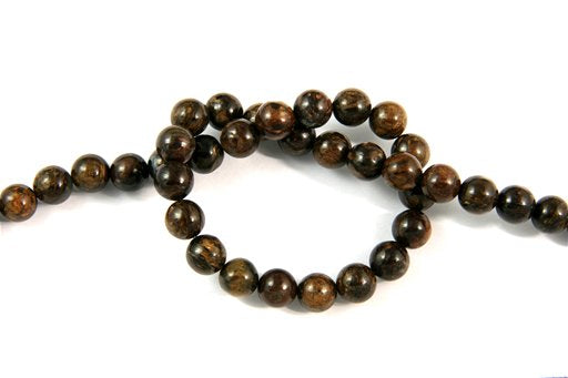 Bronzite, 8mm, Round Shape Beads