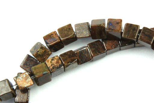 Bronzite, 4mm, Cube Shape Beads