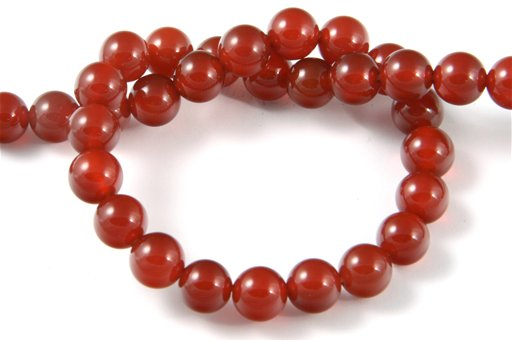 Carnelian, 8mm, Round Shape Beads